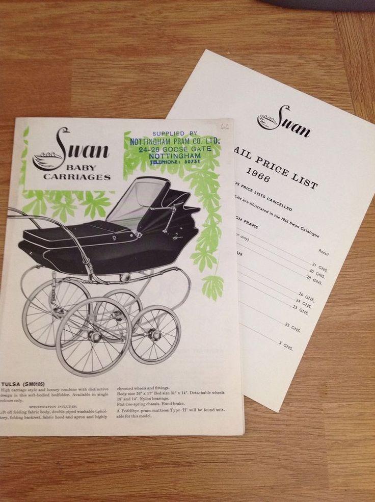 Vintage 1966 ORIGINAL Pedigree Swan baby carriage pram leaflet + price list in Baby, Pushchairs, Prams & Accs., Other Pushchairs & Prams   eBay