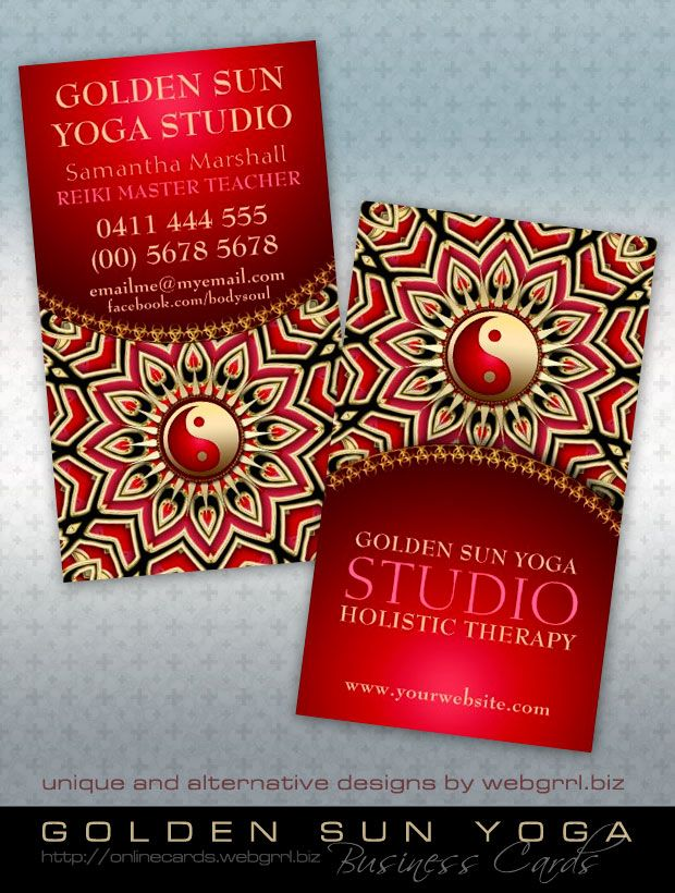 54 best Yin Yang New Age   Business Cards images on Pinterest ...