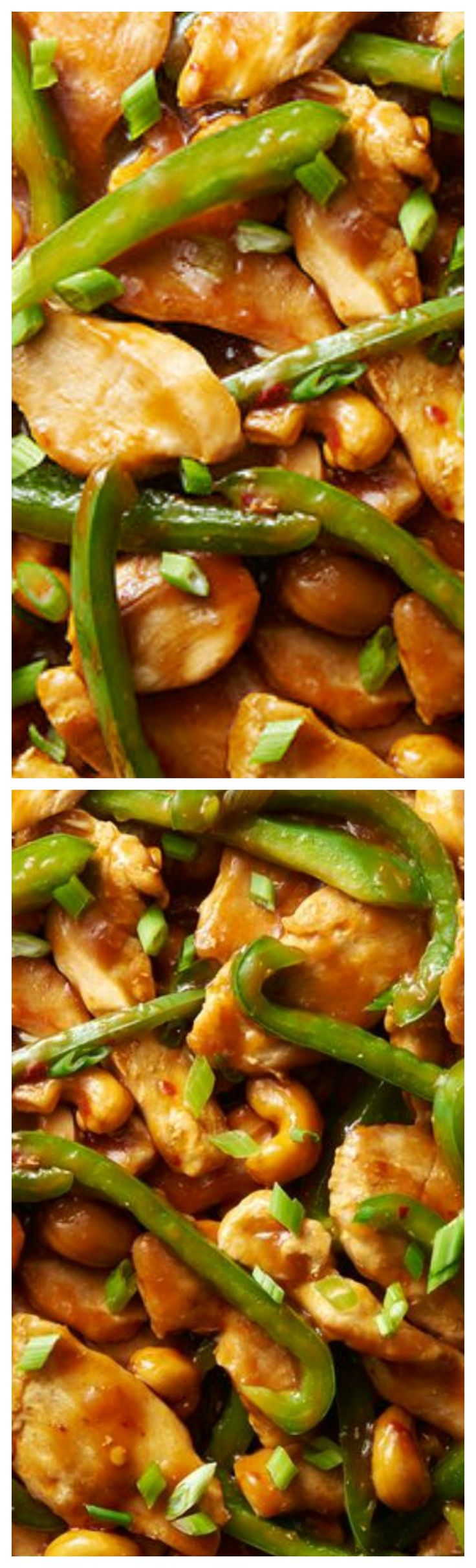 Cashew Chicken ~ Insanely easy and delicious recipe that comes together quickly in a single skillet