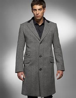 Пальто мужское однобортное укороченое