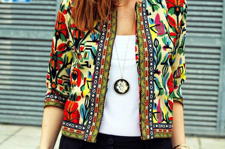 #ootd #lucabarra #giaccaetnica #ethnic #gipsy #boho #fashionblogger #jacket
