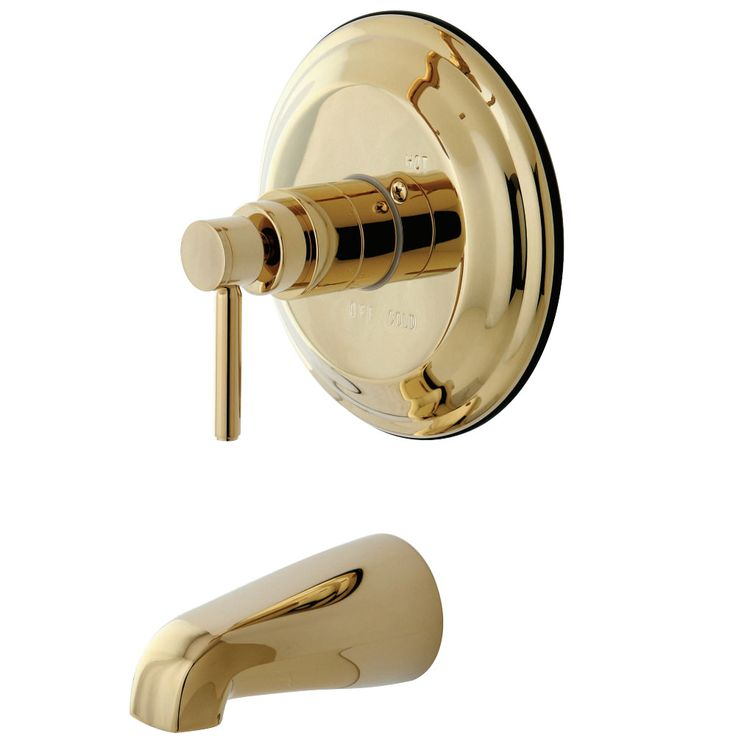 Kingston Brass KB2632DLTO Concord Tub & Shower Faucet (Shower Head Not Included), Polished Brass - Price: $269.95 & FREE Shipping over $99