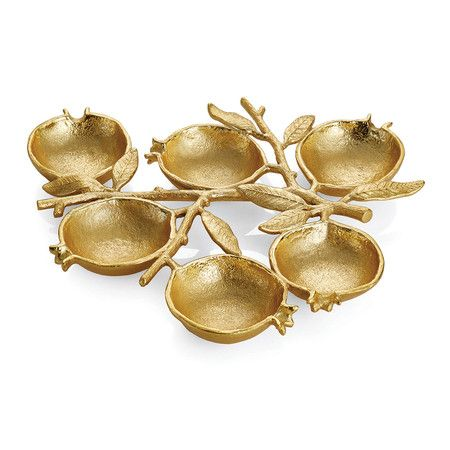 Michael aram gold pomegranate serving dish