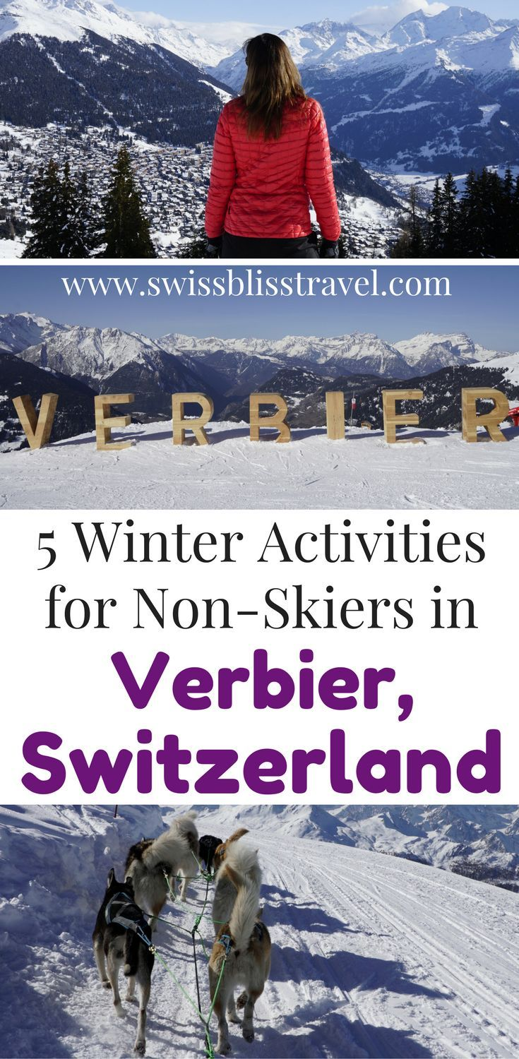 You don't have to ski to enjoy Verbier, Switzerland! Check out these 5 winter activities in Verbier that don't include skiing. You can have fun exploring the beautiful country of Switzerland instead of tumbling down the slopes. Make sure you save this Verbier, Switzerland guide to your travel board so you can find it when you're planning your trip. Travel in Europe.