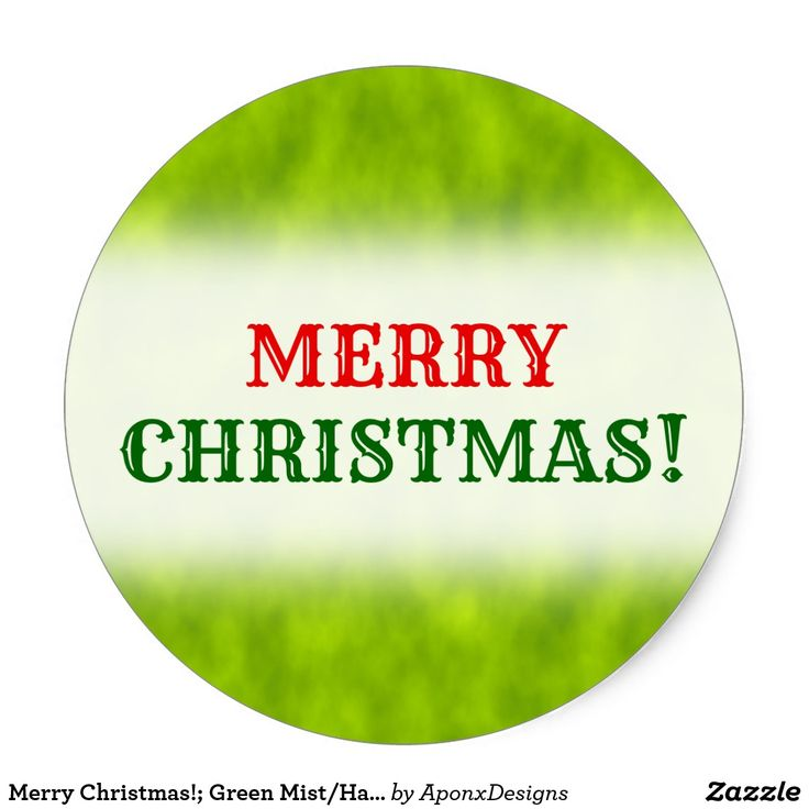 Merry Christmas!; Green Mist/Haze/Fog-Like Pattern