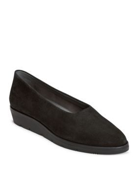 Aerosoles Women's Sideways Wedge Loafer - Black - 10.5M