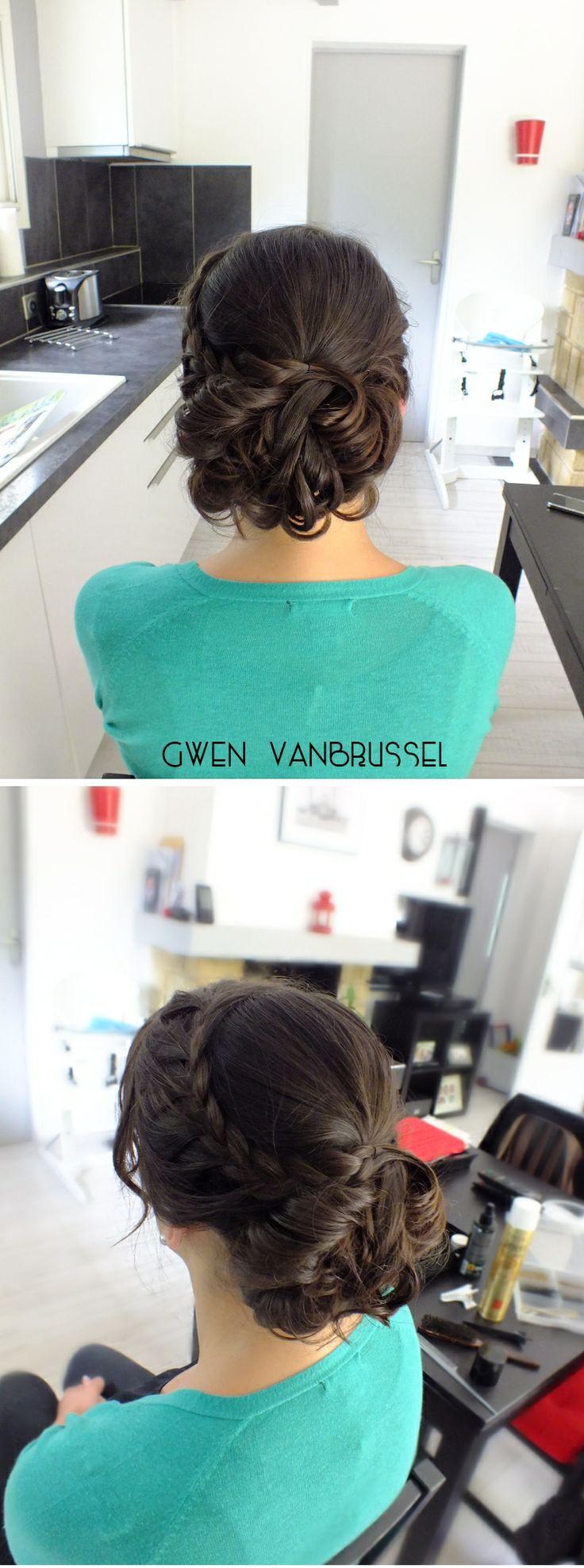 Chignon flou bas & tresse - gwenvanbrussel.com