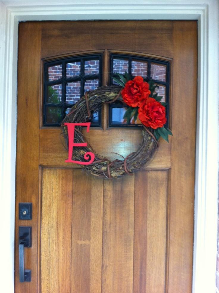 monogram door wreath: Doors, Bachelorette Party'S Lingerie, Decor Ideas, Crafts Ideas, Crafty Chick, Decor Projects, Crafts Projects, Beth Bachelorette, Party'S Lingerie Shower