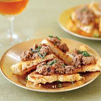Pooch Pate on Toast Points | Every Day with Rachael Ray Recipes- Invite your two- and four-legged friends over for this festive treat. Always check with your vet about which foods are appropriate for you to share with your pet.