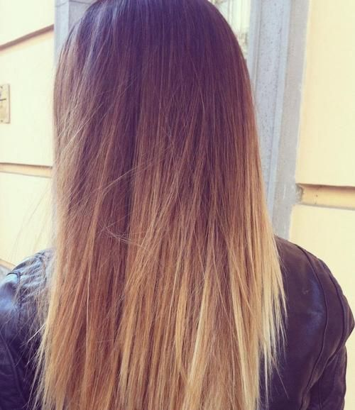 ombre.Hair Beautiful, Hairstyles, Hair Weaving, Straight Hair, Weaving Style, Dips Dyes, Summer Hair, Ombre Hair, Dips Dyed Hair