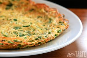 Froga tat-tarja is a Maltese pasta omelet, traditionally made with vermicelli. An ingenious way of bulking up freshly cooked pasta or turning leftovers into a second meal, this dish comes together without much effort and disappears just as easily.