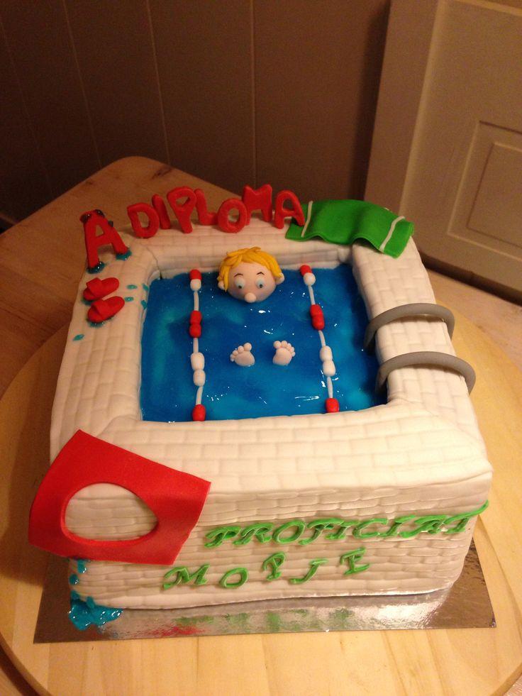 Zwembad taart
