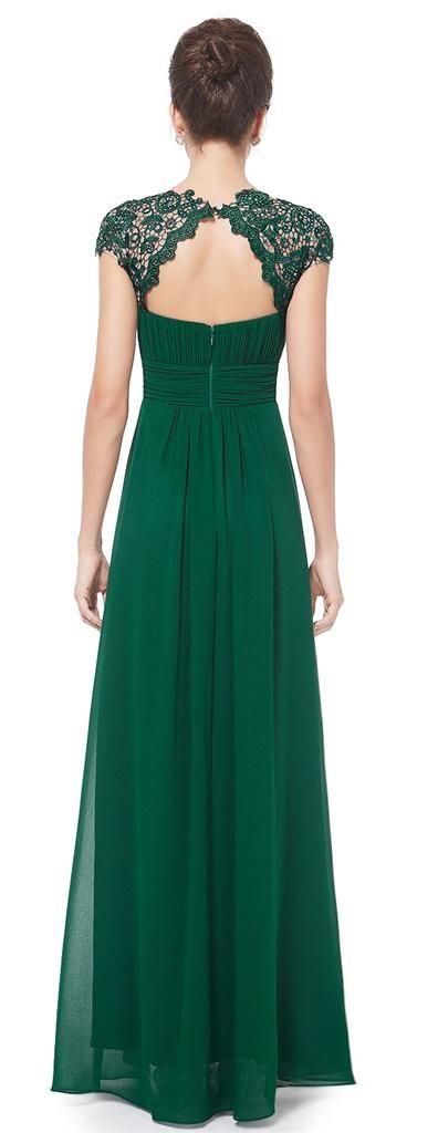 KATIE Green Lace Full Length Maxi Prom Evening Cruise Ballgown Dress - www.eloises-secret-closet.co.uk