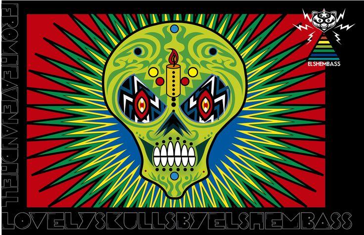 skulls 02 by elshembass, 2013