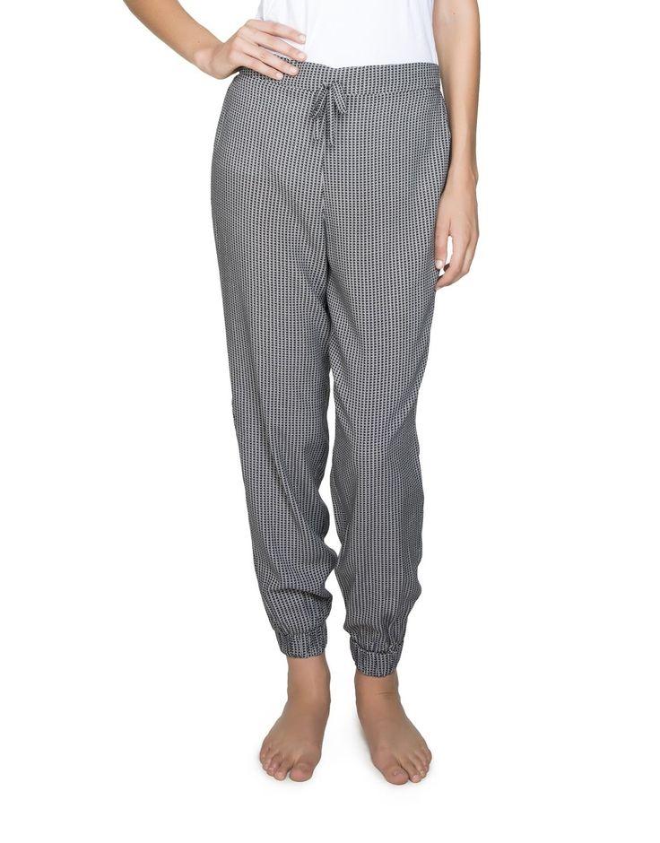 Cuffed Viscose Sleep Pants