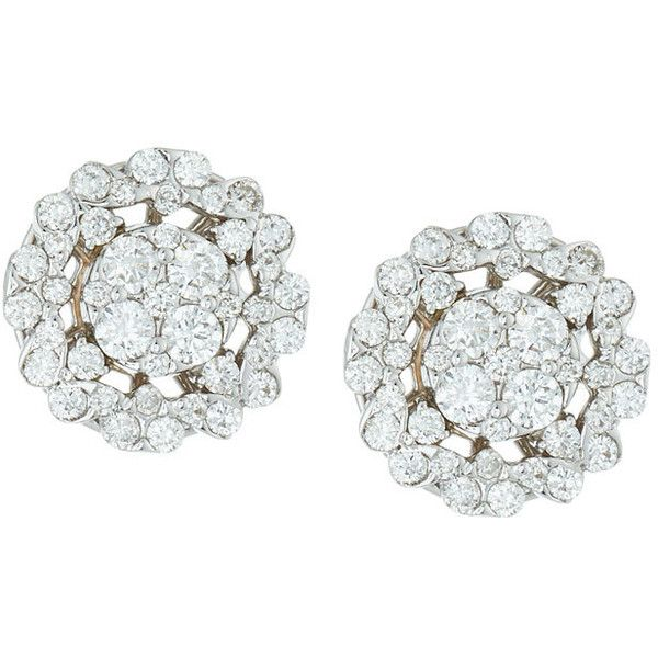 Neiman Marcus Diamonds 18k White Gold Diamond Flower Stud Earrings (€2.180) ❤ liked on Polyvore featuring jewelry, earrings, royal jewellry, white, round stud earrings, diamond flower stud earrings, white flower earrings, flower earrings and white gold diamond earrings