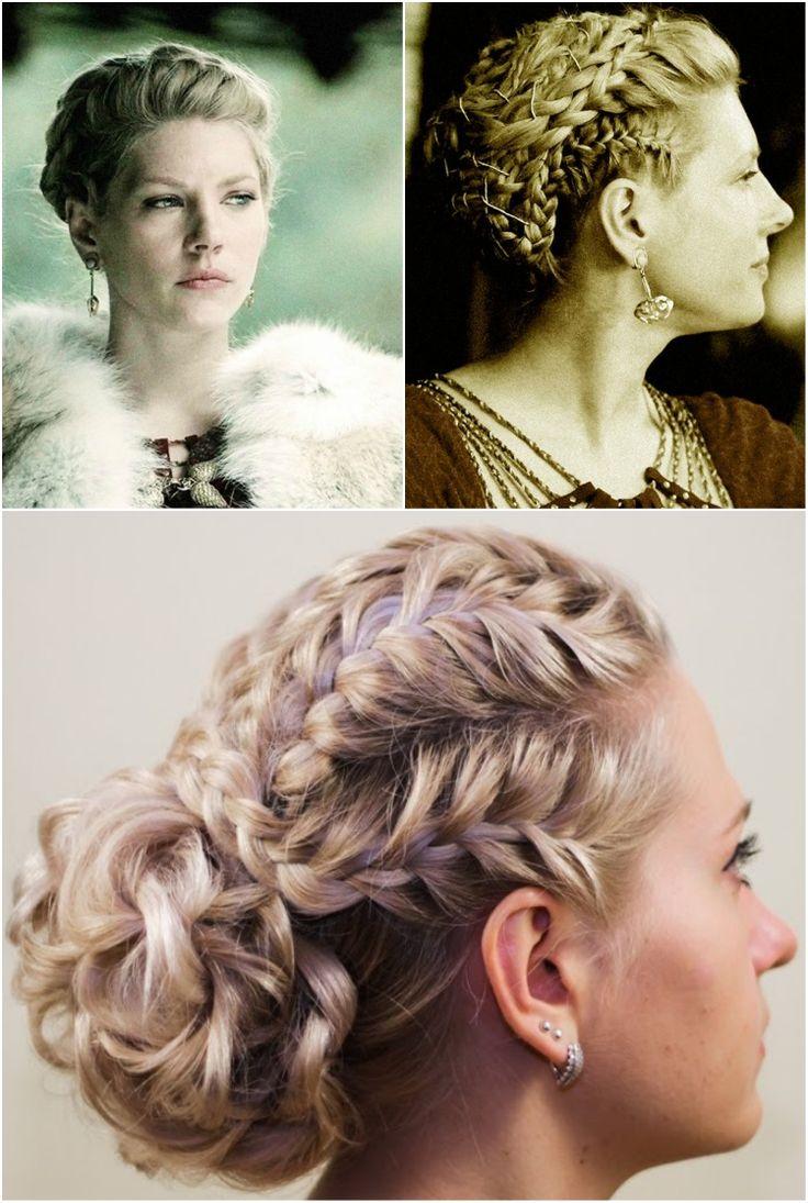 Wikinger Frisuren Frauen Updo Konigin Earl Lagertha Frisuren Hairstyle Hair Wikinger Frisuren Geflochtene Frisuren Flechtfrisuren