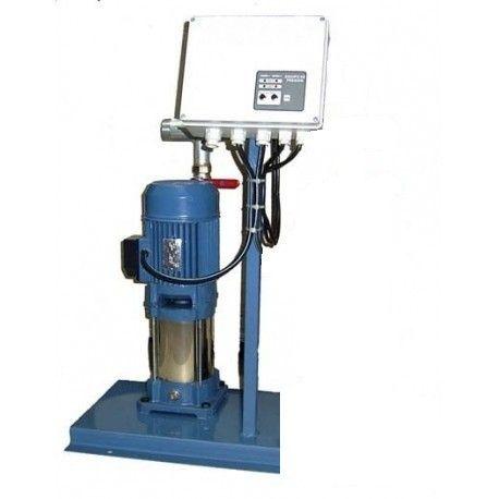 Grupo de presión con una electrobomba de 1,8 CV, trifasica, sobre bancada