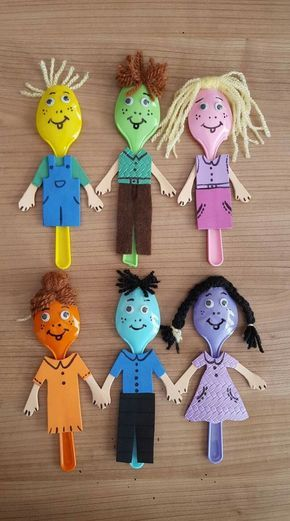 Spoon craft for kids- how cute!