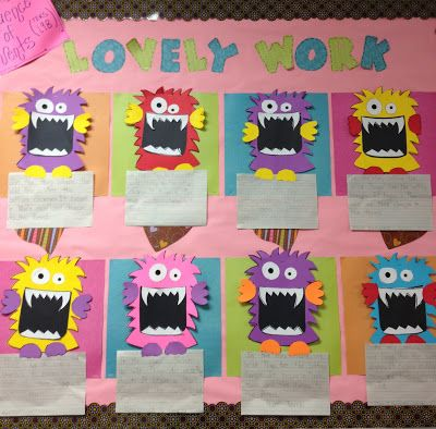 Use colorful scrapbook paper as a backdrop for your students' craftivities. Hang on a bulletin board for a cute display.