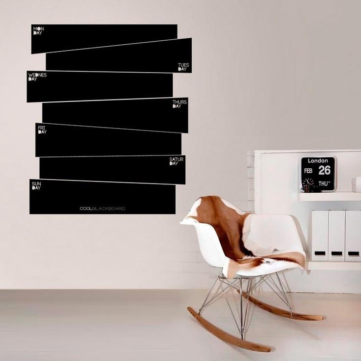 Orginaza tus #tareas #semanales con esta #pizarra de #vinilo / Organize your #weekly #tasks with this #vinyl #board