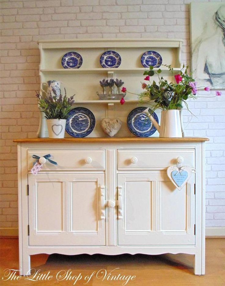 Elegant Preloved Furniture Updated For A Shabby Chic Look.