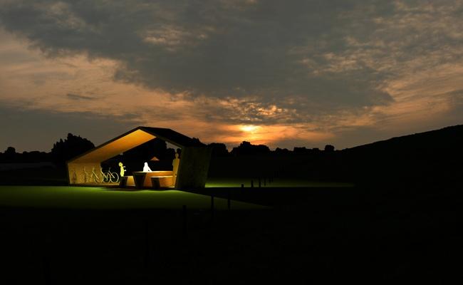 Wandering Courts, Lingewaard (NL), by night, www.8aa.nl