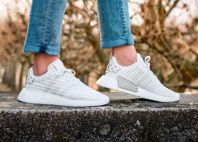 adidas nmd r2 men white outfits with light pink adidas shoes