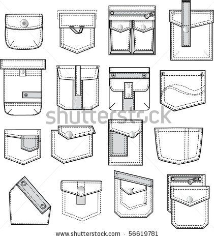 Patch and flap pockets