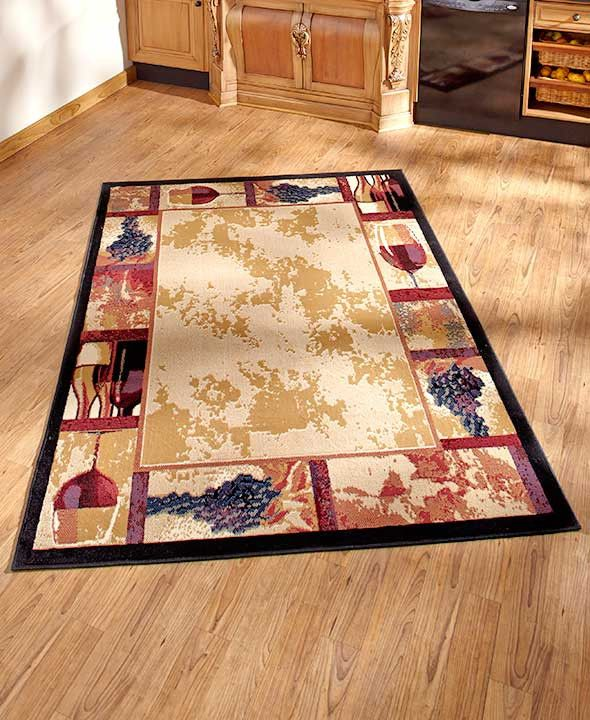 Tuscan Grape Themed Kitchen Rugs Accent Runner Area Stain