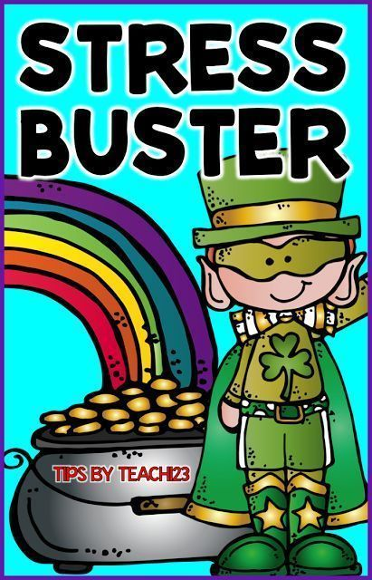 Morale Booster - stress buster with a St. Patrick's Day theme.  Fun staff morale booster idea.