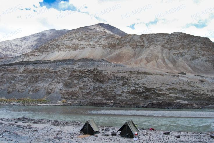 The valley around the Zanskar river makes an idyllic spot for camping during the summer. It's also a great spot for an overnight halt for tourists, especially bikers. Tents, wood stoves and lots of stories