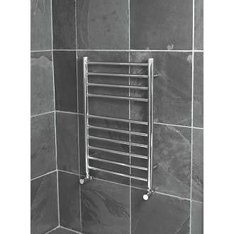 Reina Luna Flat Ladder Towel Radiator S/Steel 600 x 350mm 209W 711Btu | Luna | Screwfix.com