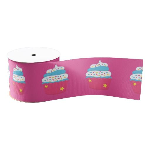 Girl's Pink Cupcake Wars Baking Birthday Party Blank Ribbon