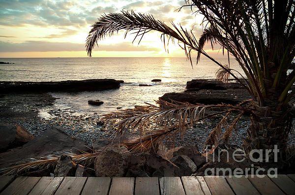 Postcard from tropical paradise, Svetlana Imagineisle available as #CanvasPrint and #RoyaltyFreeImage #OceanSunset #TropicalIsland #Sea #Ocean #Beach #BeachSunset #ArtForWalls #StockPhoto