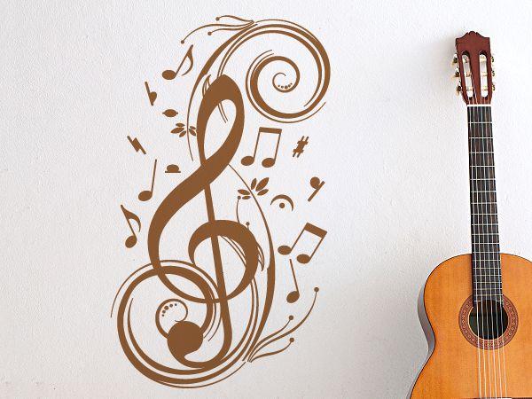 Wandtattoo - Wandtattoo Musik Notenschlüssel - ein Designerstück von wandtattoo4all bei DaWanda