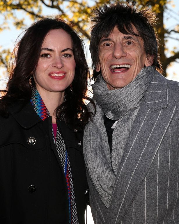 Ronnie Wood and wife Sally who's expecting his twin girls