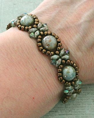 Linda's Crafty Inspirations: Bracelet of the Day: Sunflower Bracelet - Chalk…