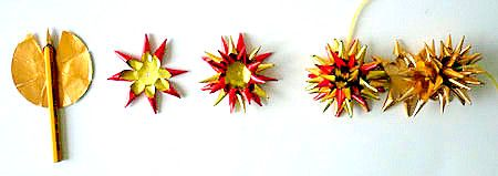 Weihnachten alt/Sterne-mit-Spitzen-Arbeitsschritte