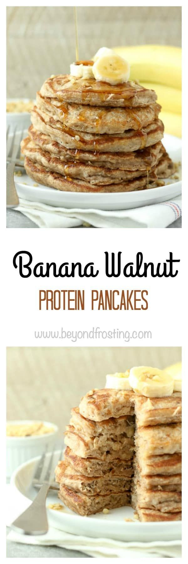 These Banana Walnut Protein Pancakes come together in a snap. With fresh bananas, Krusteaz Protein Pancake mix and a touch of cinnamon, you'll fall in love with this breakfast.