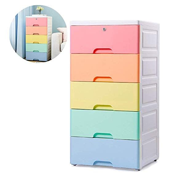 Nafenai Kids Storage Cabinet Exquisite Furniture Organizer Colorful 5 Drawer Storage C Plastic Cabinets Plastic Storage Drawers Closet Organizer With Drawers