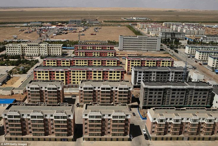The town of Alashan in Inner Mongolia's Gobi Desert where competitors in the Silk Way Rally have driven near this week