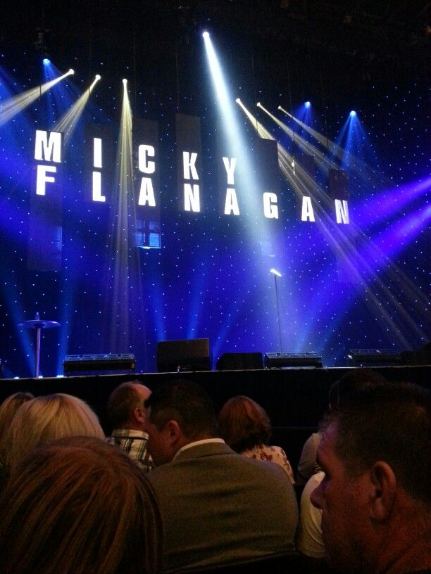 This close to the stage for Micky Flanagan ....... thankfully no heckling and such a great night... laughed the whole way through!!