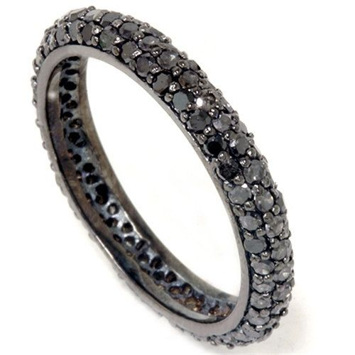 110CT+Black+Diamond+Pave+Eternity+Ring+14K+Black+Gold+by+Pompeii3,+$399.00