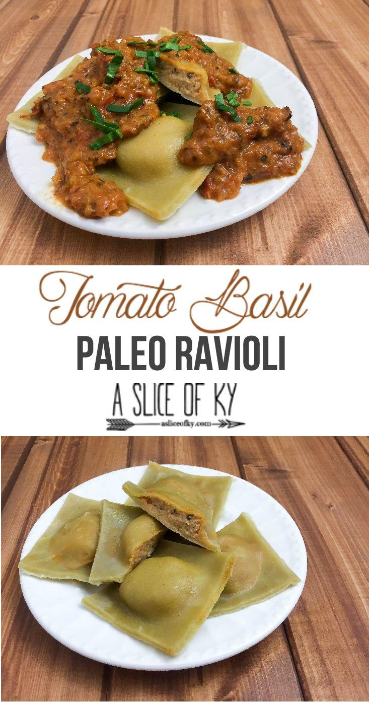 Tomato Basil Paleo Ravioli | A Slice of Ky