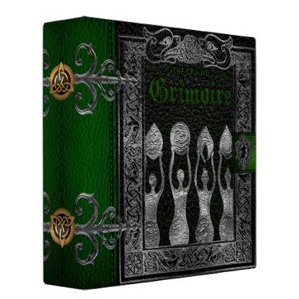 The Grand Grimoire Witches Book Of Shadows Binder - personalize cyo diy design unique