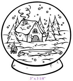 snow globes coloring pages - photo#23