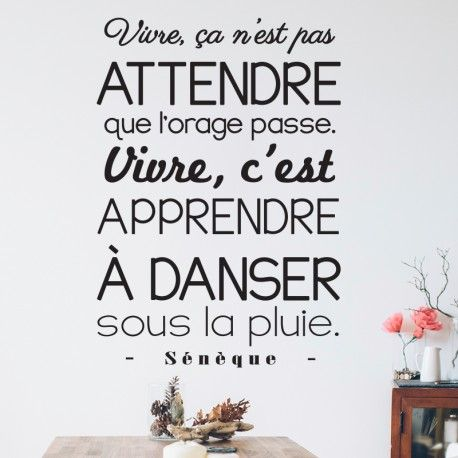 768 best Citation images on Pinterest Proverbs quotes, Quotation - stickers dans cette maison