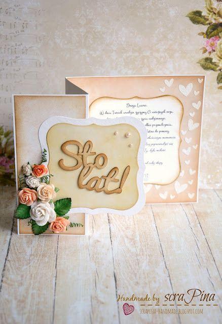 kobieca rozkładana kartka na urodziny dla koleżanki z pracy ręcznie robiona scrapina handmade scrapbooking papiery galeria papieru kwiaty wild orchid crafts tekturki papelia