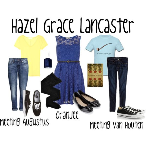 "Some of the outfits that Hazel is described as wearing in ""The Fault in Our Stars""."